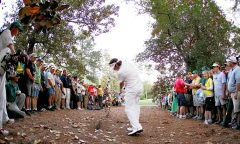 Bubba Watson's incredible shot on the 2nd playoff hole in 2012