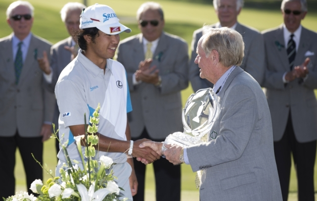 Hideki Matsuyama won his first PGA Tour tournament on Sunday in a playoff over Kevin Na