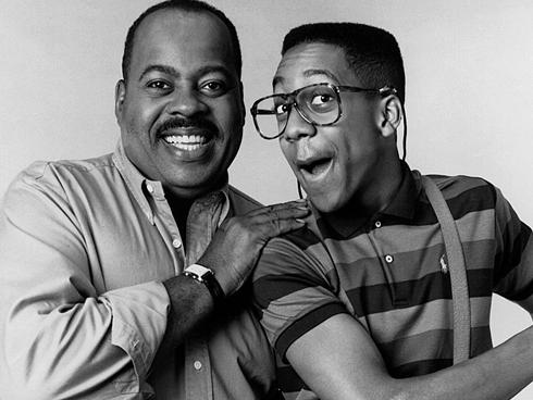 It was remarkably hard to find a picture of Jimmy Walker at the Sony Open in Hawaii, so please enjoy this promotional photo of Reginald VelJohnson and Jaleel White from the classic sitcom, Family Matters