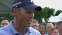 Matt Kuchar ALMOST stopped smiling when told that Beast left him on the bench