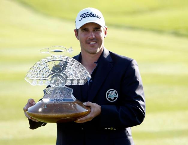 Brooks Koepka was all smiles after winning the Waste Management Phoenix Open